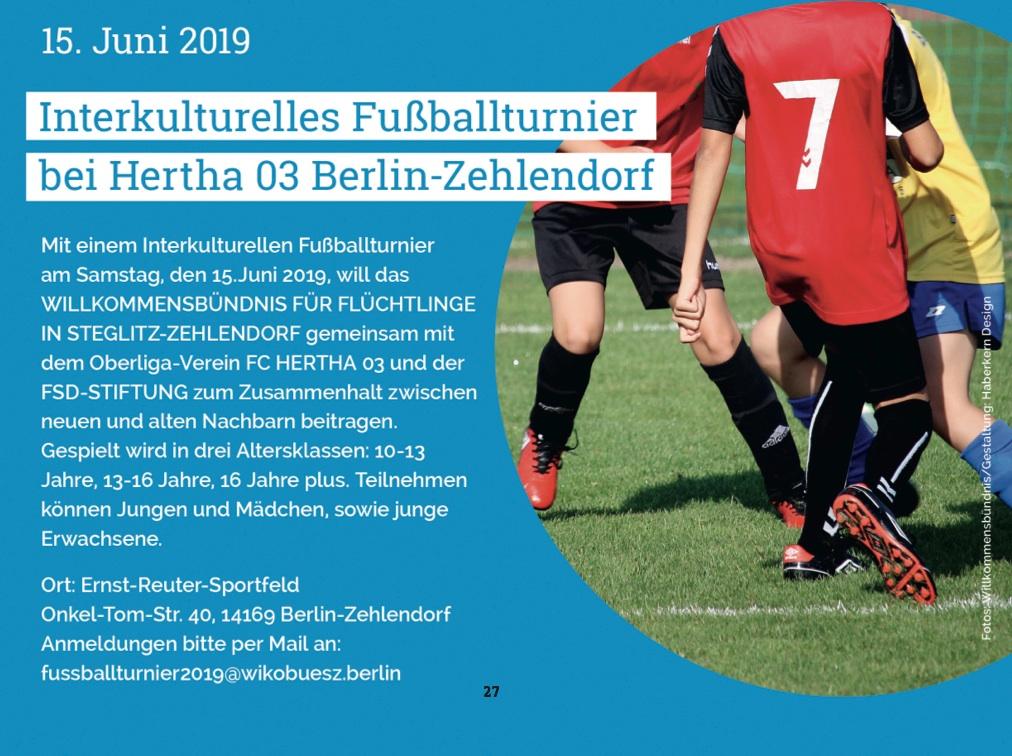 15. Juni 2019: Interkulturelles Fußballturnier bei Hertha 03 Berlin-Zehlendorf