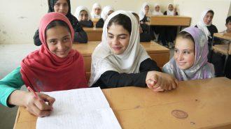 Mädchen dürfen nur die Grundschule bis zur 6. Klasse besuchen.